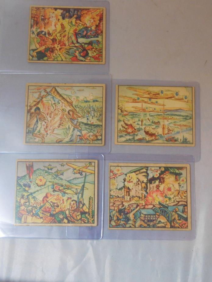 1938 HORRORS OF WAR 5 CARDS # 20 21 22 23 24 SCARCE LOW #s