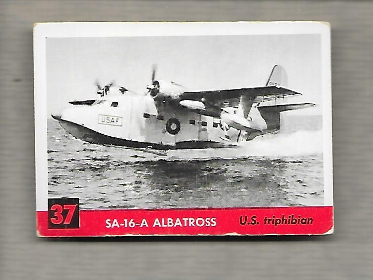 Topps Jets #37 Gum Card SA-16-A Albatross 1956 US Triphibian  g1195