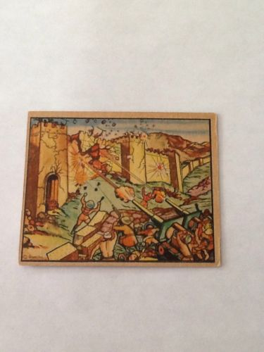 1938 HORRORS OF WAR 'BLOWING DOWN THE ANCIENT WALLS OF PAOSHAN' # 7 Nice Shape