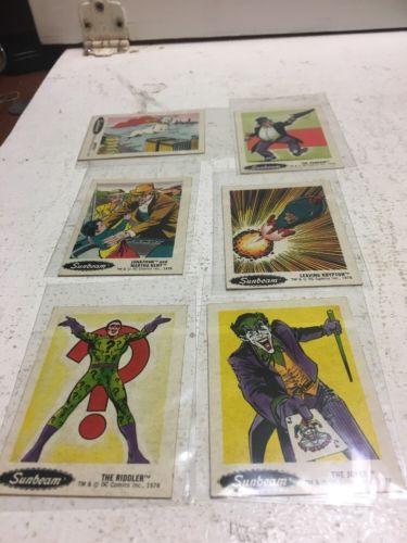 VINTAGE 1978 SUNBEAM  DC COMICS HEROES AND VILLAINS - Lot Of 6