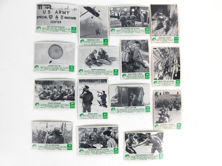 1966 Philadelphia Gum Green Beret Trading Card Set (15 Cards)