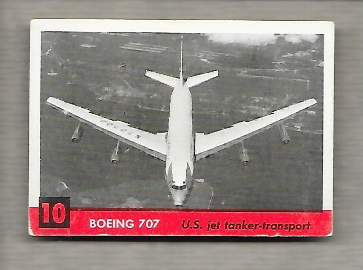 Topps Jets #10 Gum Card Boeing 707 1956 US Jet Tanker Transport g1183