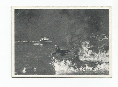 1965 Glidrose Productions James Bond Card #38 Always Burn Your Boats Behind You