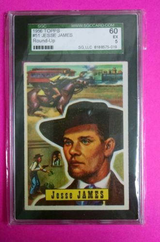 1956 topps roundup #51 jesse james