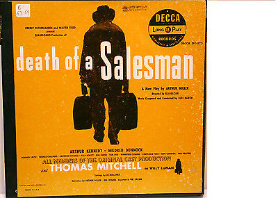 DECCA Record album: DEATH OF A SALESMAN Arthur Miller 1950 Excellent! Orig. cast