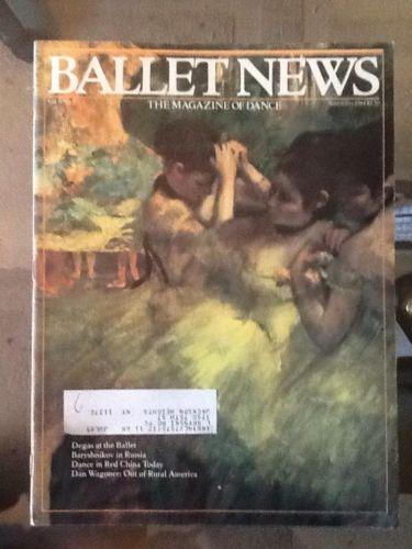 Ballet News Magazine, November 1984