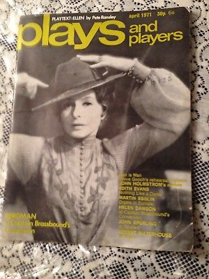 PLAYS AND PLAYERS  4/71-  INGRID BERGMAN ON COVER