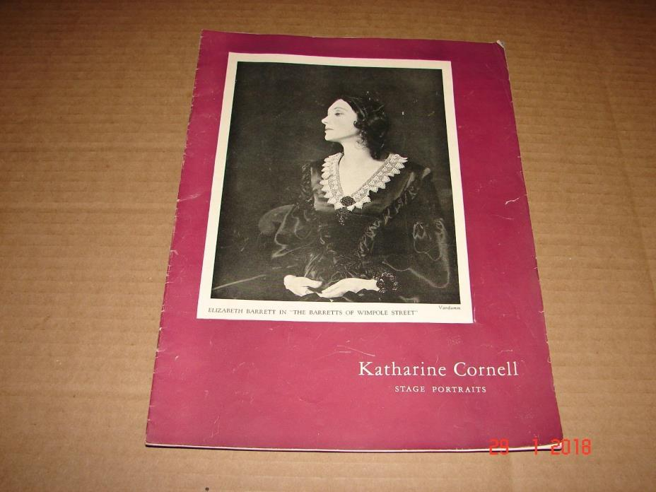 Vintage 1940s Katharine Cornell Stage Portraits Booklet 17 Pages