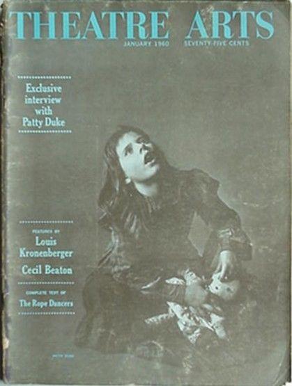 1960 THEATRE ARTS MAGAZINE (PATTY DUKE as HELLEN KELLER CVR) + EXTRA COVER