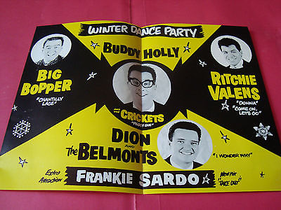 Winter Dance Party program souvenir Ritchie Valens buddy holly Big Bopper 2-2-59