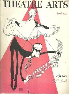 Theatre Arts Magazine April 1957 Eugene O'Neill and Jose Quintero by Hirschfeld