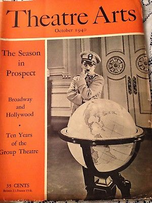 THEATRE ARTS 10/40  -  CHARLIE CHAPLIN ON COVER