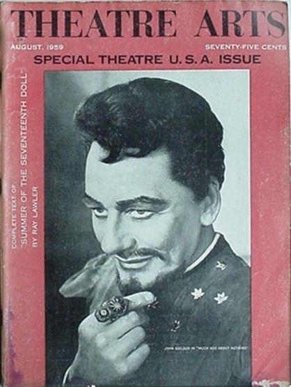 1959 THEATRE ARTS MAGAZINE (JOHN GIELGUD SHAKESPEARE CVR) SPEC THEATRE USA ISSUE