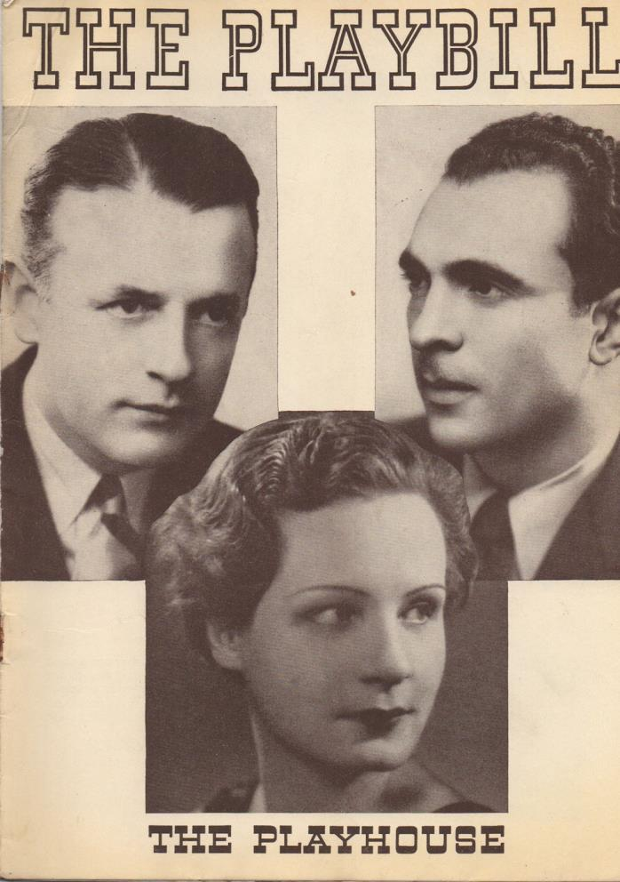 1936 Playbill Three Men On A Horse Betty Field Shirley Booth Sam Levine