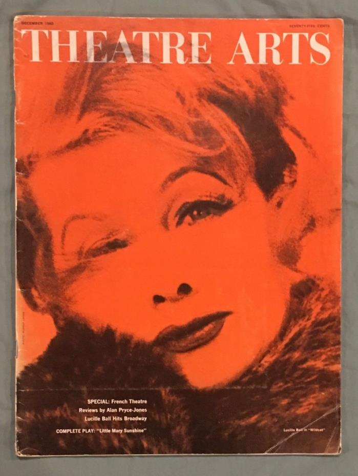Theatre Arts Magazine December 1960 Lucille Ball Wildcat