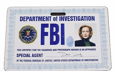 X-FILES Scully Prop ID Badge