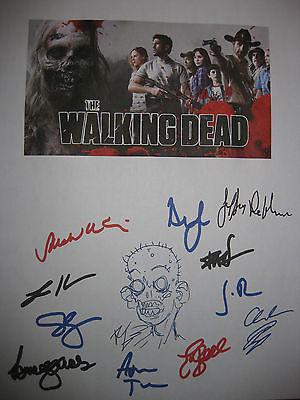 The Walking Dead Signed TV Script Vatos Andrew Lincoln Kirkman Callies Holden RP