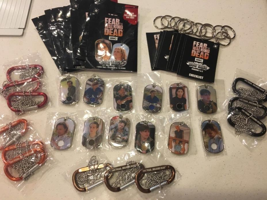 2017 Fear the Walking Dead Complete Set Costume Relics-12 Wardrobe Dog Tags