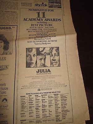 COLLECTABLE 1978 MOVIE ADVERTISEMENT FOR