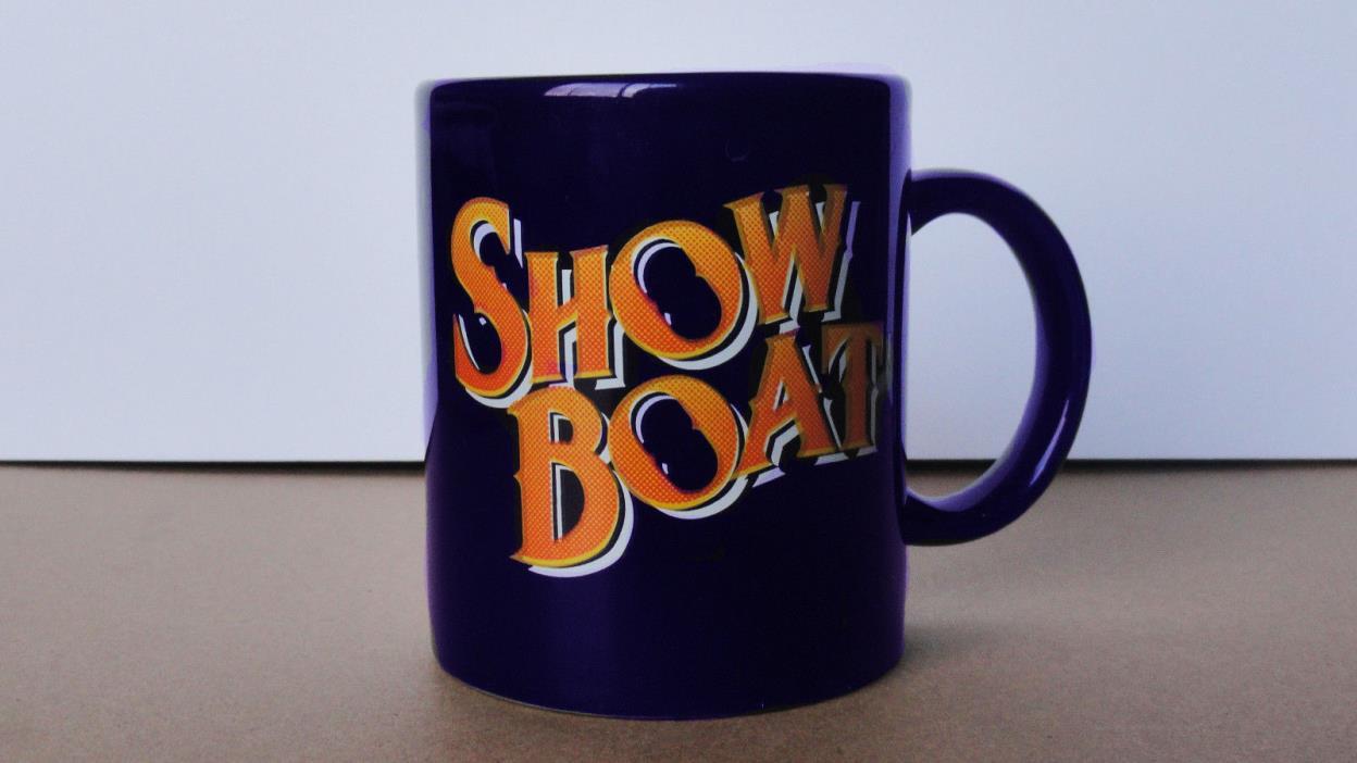SHOW BOAT Dark Blue Broadway Souvenir Mug Musical Theater Vintage Elaine Stritch