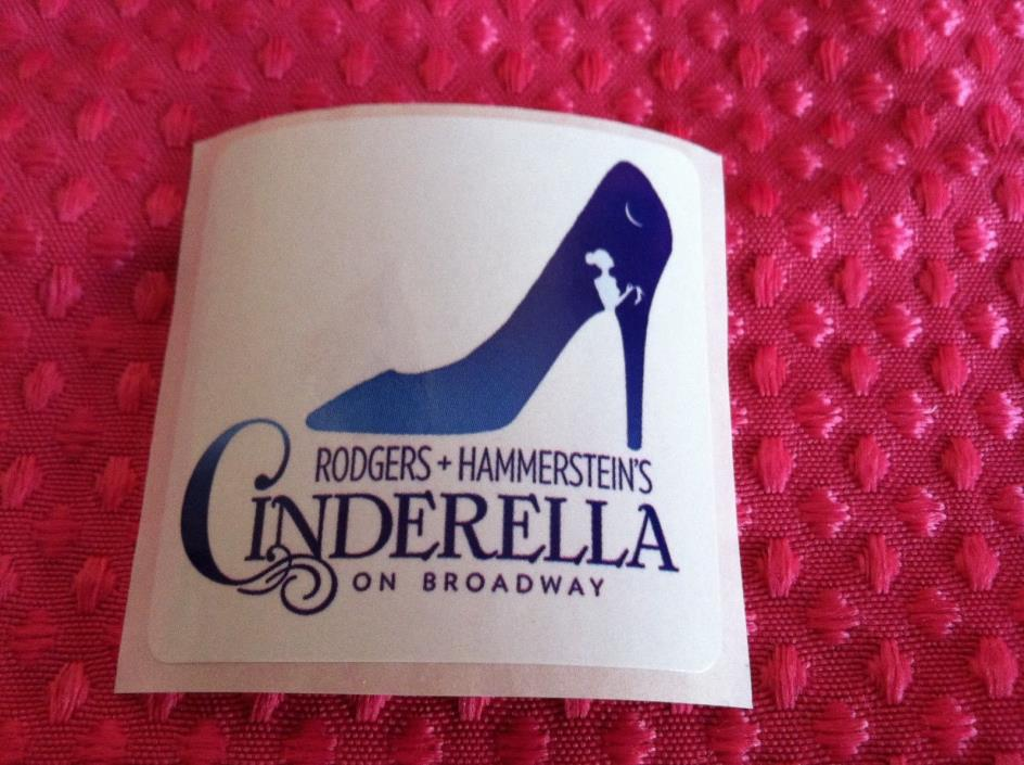 Lot of 100 Stickers From Rogers & Hammerstein's Cinderella on Broadway -- NEW