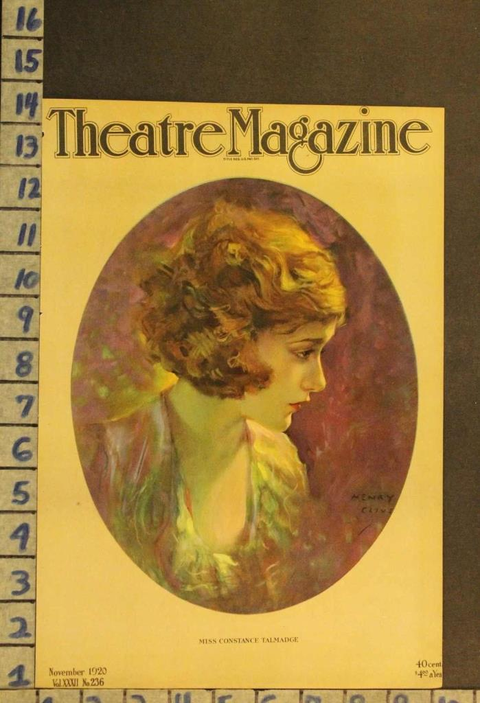 1920 THEATER CONSTANCE TALMADGE ACTRESS PLAY BROADWAY ILLUS CLIVE COVER RH52