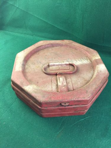 Vintage Pausin Engineering Metal Carry Shipping Case Motion Picture Movie Film