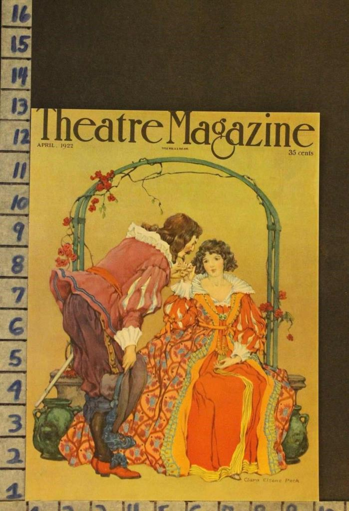 1922 THEATER ROMEO JULIET LOVE ROMANCE ACTOR SHAKESPEARE ILLUS PECK COVER RH43