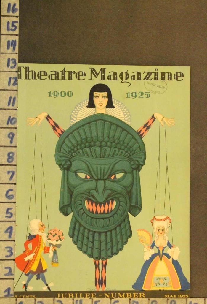 1925 THEATER PUPPET JESTER ROMANCE MARIONETTE ILLUS CARL LINK COVER RH48