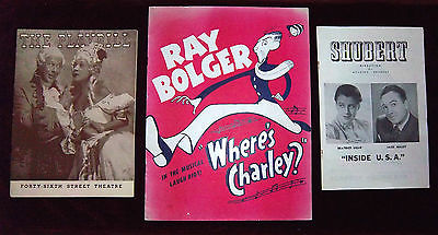 PLAYBILLS JUDY GARLAND BERT LAHR JACK HALEY RAY BOLGER WIZARD OF OZZ