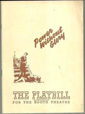 Playbill Power Without Glory January 1948 Booth Theatre Starring Trevor Ward
