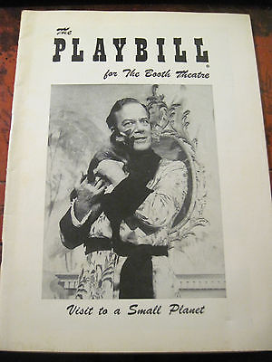 JULY 1957 - Booth Theatre Playbill - Visit To A Small Planet - Edward Andrews