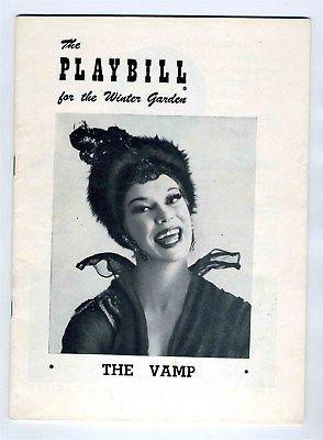 1955 THE VAMP Carol Channing Playbill Winter Garden Theatre  New York