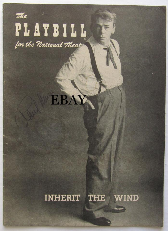 1956 Playbill Inherit the Wind - Paul Muni SIGNED
