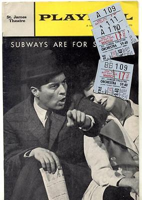 1962 SUBWAYS ARE FOR SLEEPING Chaplin Lawrence Newman Comden Green Styne STUBS
