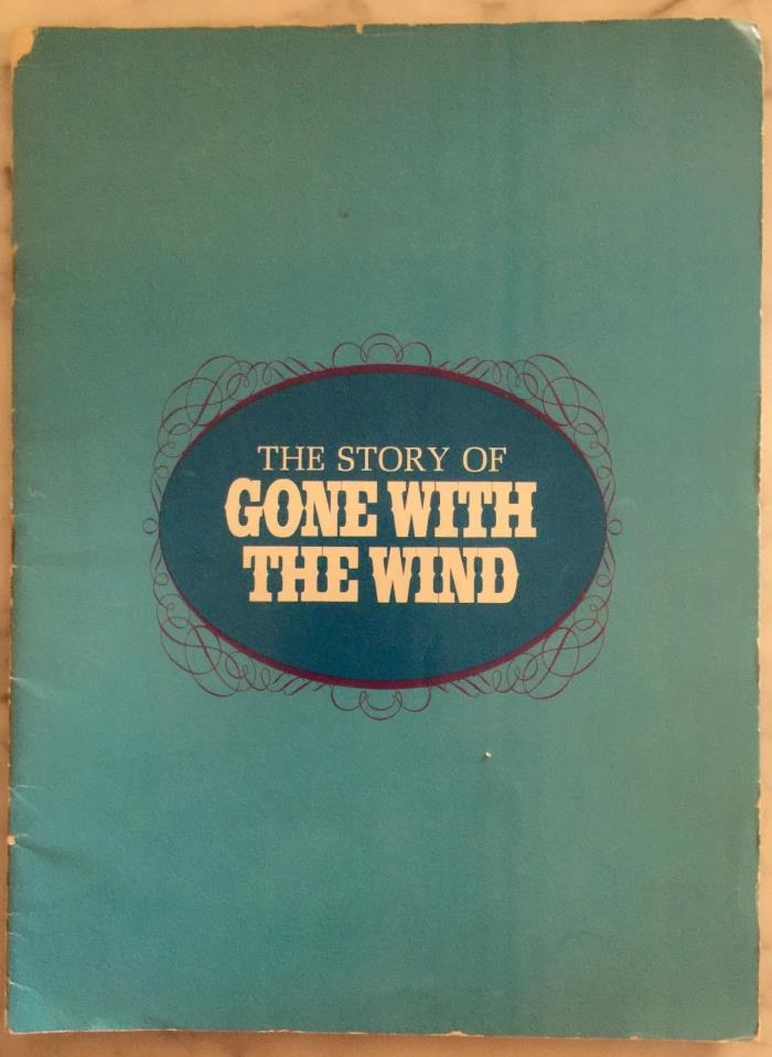 The Story Of Gone With The Wind 1967 Movie Re-Release Program 32-Pages