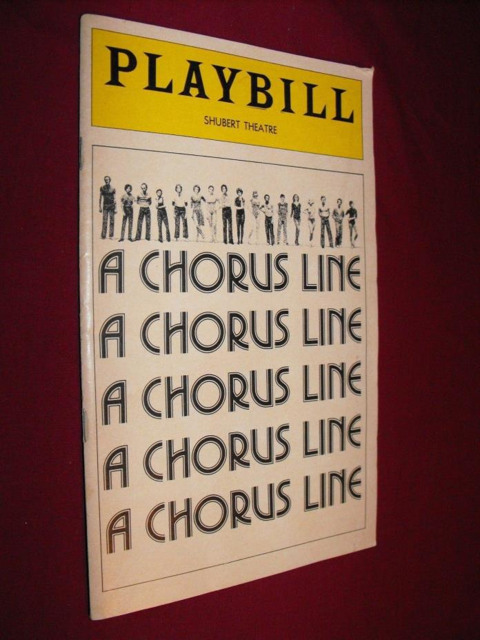 A CHORUS LINE PLAYBILL SHUBERT THEATRE THEATER 1978