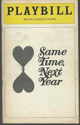 Playbill Same Time, Next Year May 1978 Betsy Palmer and Monte Markham