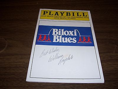 Playbill-Biloxi Blues, signed by star, William Ragsdale, March 1986