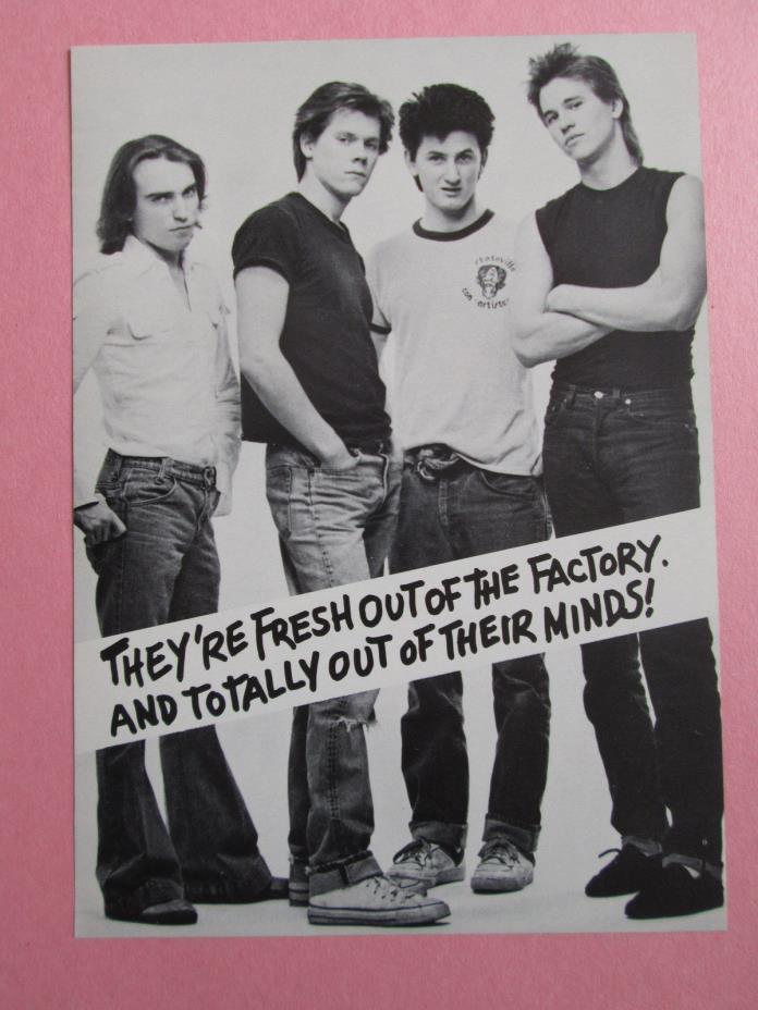 1983 Sean Penn Val Kilmer Kevin Bacon SLAB BOYS BROADWAY PLAY Theater Flyer Vtg