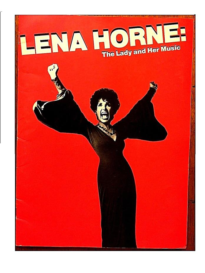 Lena Horne: The lady and her music broadway playbill Broadway, souvenier book