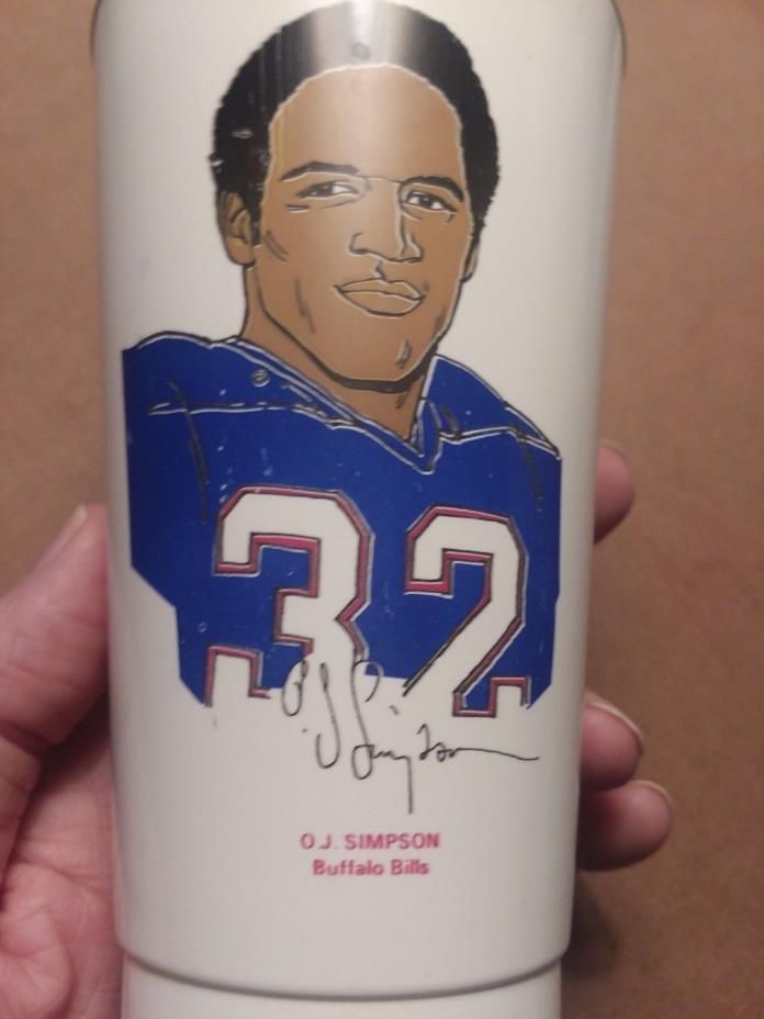 1972 7-11 Slurpee NFL Cup, HOF, RB, O.J. Simpson, Buffalo Bills