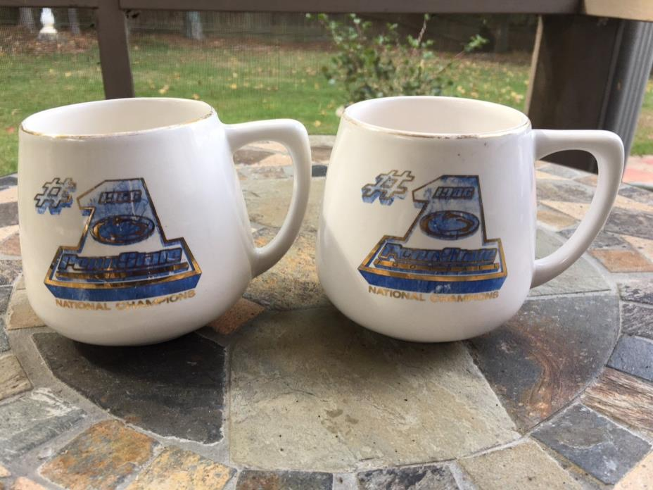 Penn State Football #1 Nittany Lions National Champions 1986 Set of 2 Mugs