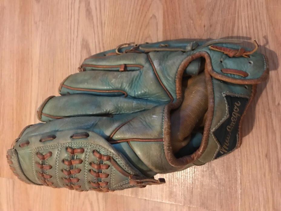 Vintage MacGregor Hank Aaron Autograph Model Baseball Glove Mitt Japan