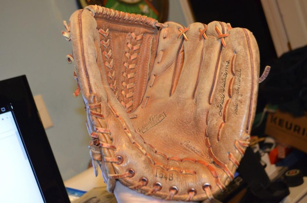VINTAGE SEARS BASEBALL GLOVE, TED WILLIAMS MODEL #1648, Free Shipping