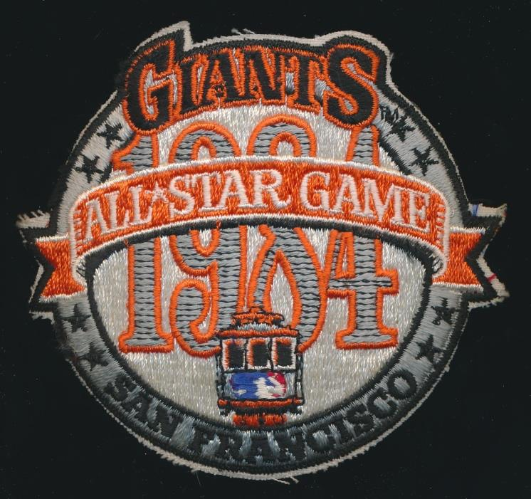 1984 All Star Game -ORIGINAL PATCH *Unused* -San Francisco Giants