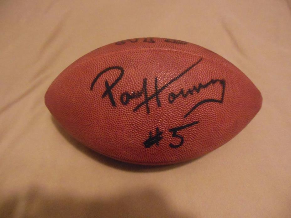 Paul Hornung and Jim Taylor Dual Autograph Official NFL Taglibue Football