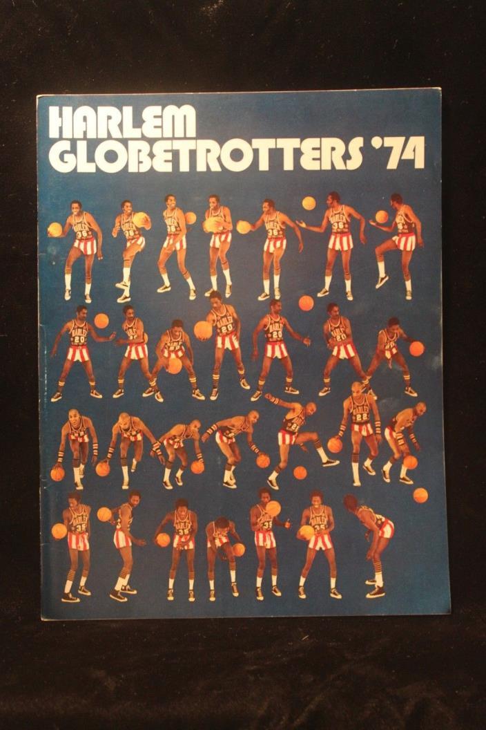 Vintage Harlem Globetrotters 1974 Year Book Abe Saberstein Meadowlark Lemon NICE