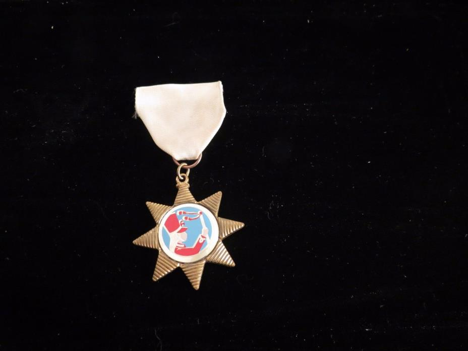 Vintage Drum Majorette Ribbon Badge Baton Medal Marching Band