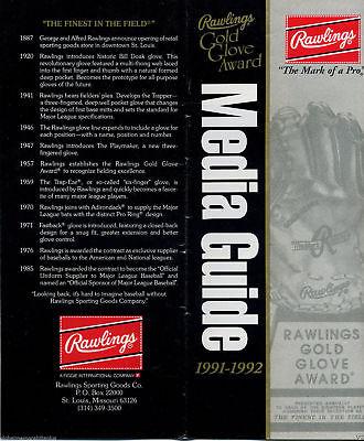 Book (1991) RAWLINGS GOLD GLOVE AWARD Media Guide (Mattingly/ Ventura SPO
